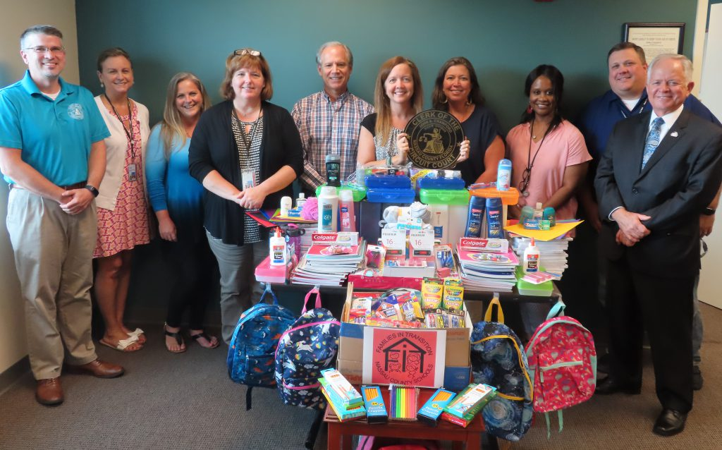 CLERK OF COURT EMPLOYEES DONATE BACK-TO-SCHOOL SUPPLIES FOR AT-RISK KIDS